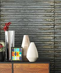 metall tapete vliestapete grau edel schöne edle tapete im modernen wellblech design moderne 3d optik für wohnzimmer schlafzimmer od küche inkl
