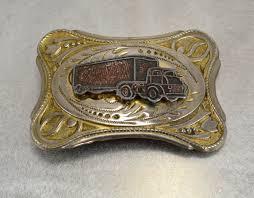 100 Truck Belt Vintage 50s Buckle Western Etsy