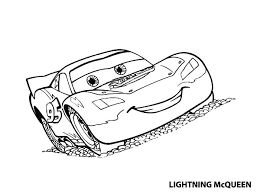 Amazing Lighting McQueen In Disney Cars Coloring Page