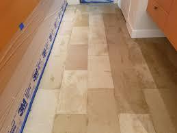 During Our Limestone Floor Restoration Process Dallas TX