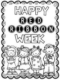 Great Writing And Coloring Activities For Red Ribbon Week Thanks To Melonheadz Clipart