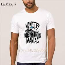 100 Monster Truck Maniac Creative Basic Mens T Shirt Monster Truck Maniac Big Mens T Shirt