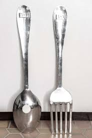 Lovely Big Fork And Spoon Wall Decor