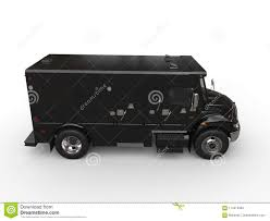 Black Armored Box Truck - Side View Stock Illustration ...