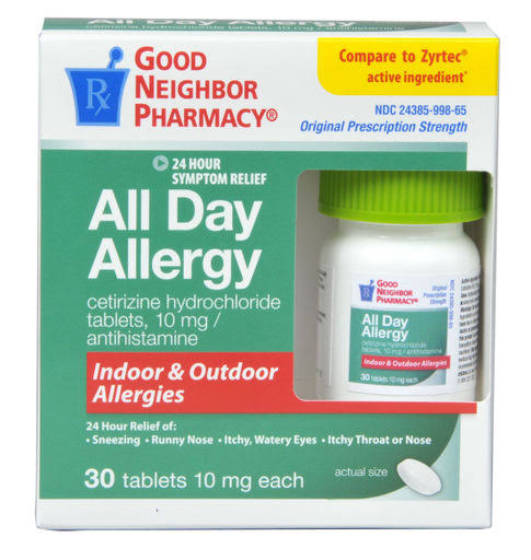 GNP 24 Hour All Day Allergy Relief 30 Tablets