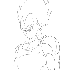 Vegeta Printable Coloring Pages Super Saiyan 5 Plain Dragon Ball