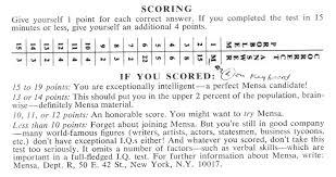 Mensa Test 3