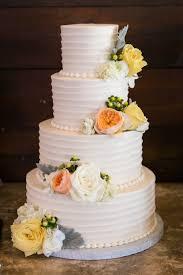 Custom Wedding Cake White Horizontal Texture Gardenroses Sugarbeesweets