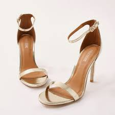Avril Barely There Heels In Gold