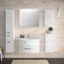 badezimmer spiegelschrank fes 4010 66 mit koprus in weiß glanz inkl led b h t 82 72 27cm