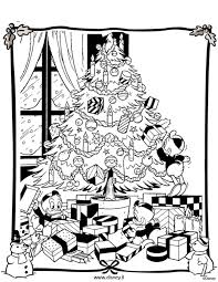 Disney Christmas Tree Coloring Page