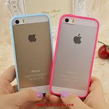 iphone 5s transparent silicone de couleur de téléphone de coque