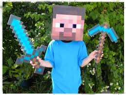 Minecraft Sword Pumpkin Stencil by How To Make A Minecraft Steve Costume For Less Than 10