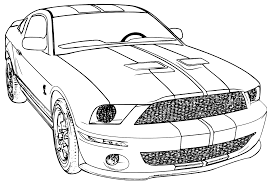 Free Mustang Coloring Pages With Printable Car