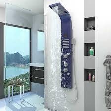 duschpaneel aus edelstahl duschsäule duscharmatur thermostat