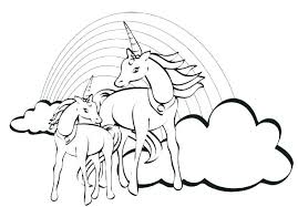 Rainbows Coloring Pages Rainbow Colouring