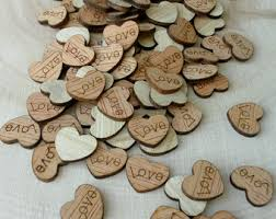 100 Tiny Love Hearts 1 2 Cute Little Wooden