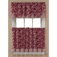 Kmart Curtain Rod Set by Sandra By Sandra Lee Dora Tier Curtains Brick