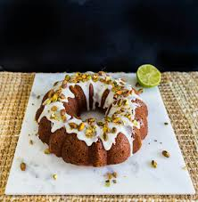 Pistachio coconut lime and rosewater bundt cake Broma Bakery