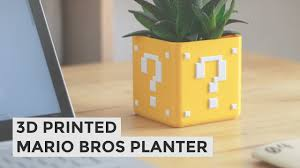Super Mario Question Block Lamp Uk by Super Mario Planter Diy 3d Printed Planter Tutorial Youtube