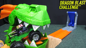 100 Monster Truck Track Set Hot Wheels Jam Dragon Blast Challenge Playset Review By