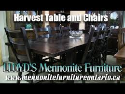 Mennonite Harvest Table And Chairs Furniture Toronto Ontario