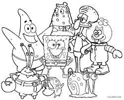 Impressive Inspiration Sponge Bob Coloring Pages Spongebob Squarepants