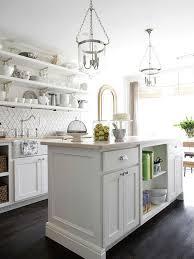 alluring white kitchen island lighting bhg centsational style