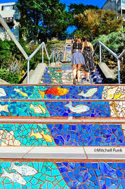16th Avenue Tiled Steps In San Francisco by Hidden Garden Steps Mosaic Steps San Francisco Ca 16th Av And