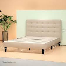 upholstered button tufted platform bed frame zinus