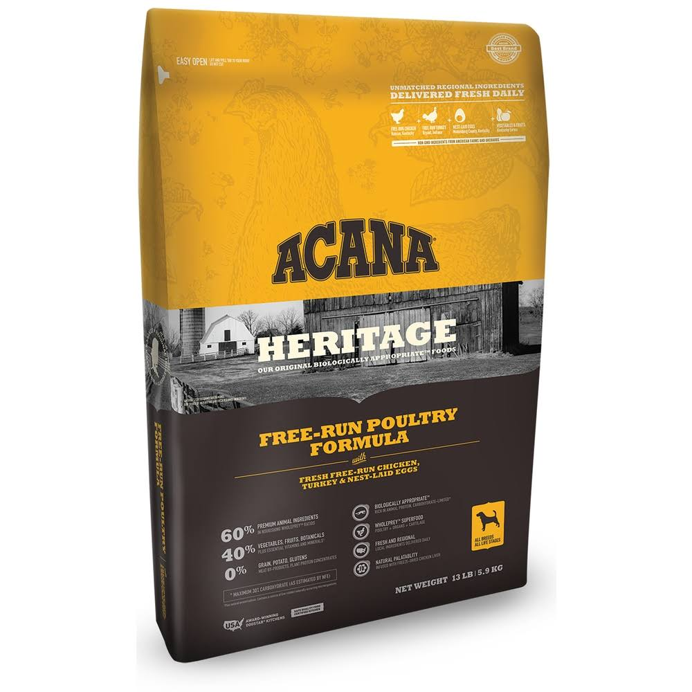 ACANA Heritage Free-Run Poultry Formula - 25lb