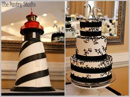 Florida Lighthouse Grooms Cake With Elegant Black Wedding