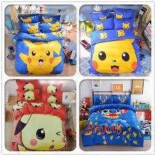 Cute Pikachu Bedding Set Cartoon Pokemon Hello Kitty Doraemon