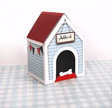 dog house treats box printable large personalize dog treats
