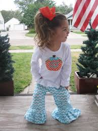 aqua chevron ruffle pants matching boutique pumpkin shirt top