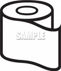 toilet paper clip art black and white