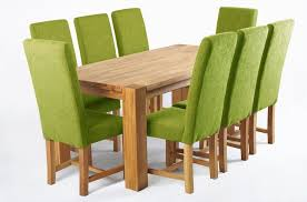 Modern Green Dining Room Set With Wooden Table And Highback Upholstered Chair