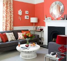 Living Room Modern Colour Schemes For Blue Accent Wall Spherical Shade Table Lamp Flower Plan Ing