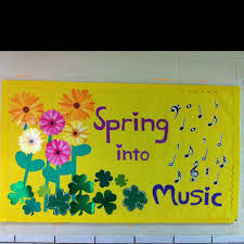 My March Music Bulletin Board School