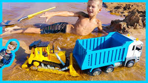 Construction Truck Videos For Children - Dump Truck And Bulldozer ... Cstruction Trucks Toys For Children Tractor Dump Excavators Truck Videos Rc Trailer Truckmounted Concrete Pump K53h Cifa Spa Garbage L Crane Flatbed Bulldozer Launches Ferry Excavator Working Tunes 1 Full Video 36 Mins Of Truck Videos For Kids Vehicles Equipment The Kids Picture This Little Adorable Road Worker Rides His Tonka Toy Tow And Toddlers 5018 Bulldozers Vs Scrapers