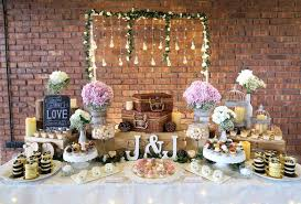 Dessert Table From A Rustic Romantic Wedding On Karas Party Ideas