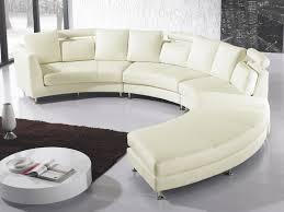 canapé circulaire canapé rond cuir crème sofa beliani fr