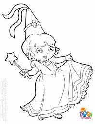 Dora Coloring Sheets On Sheet