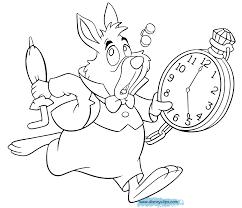 Alice In Wonderland Coloring Pages Disney
