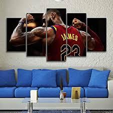 5 stück leinwand gedruckt lebron sports mauer bilder zuhause dekor wohnzimmer poster fresko plakate segeltuch