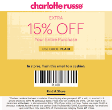 Pinned September 27th: Extra 15% Off At #CharlotteRusse Or ... 25 Off Lmb Promo Codes Top 2019 Coupons Promocodewatch Citrix Promo Code Charlotte Russe Online Coupon Russe Code June 2013 Printable Online For Charlotte Simple Dessert Ideas 5 Off 30 Today At Relibeauty 2015 Coupon Razer Codes December 2018 Naughty Coupons Him Fding A That Actually Works Best Latest And Discount Wilson Leather Holiday Gas Station Free Coffee Edreams Multi City