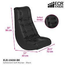 ECR4Kids SoftZone Floor Rocker - Cushioned Ground Chair For Kids, Teens And  Adults - Great For Reading, Gaming, Meditating, TV - Black