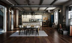 Home Interiors Industrial Style Lofts Interior Design In Black