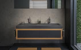 aquatica millennium 150 stein badezimmer waschbecken schwarz