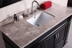 Single Sink Bathroom Vanity With Granite Top by Adorna 48